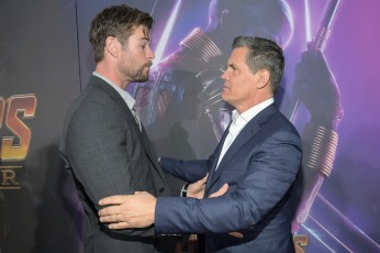 HOLLYWOOD, CA - APRIL 23: Actors Chris Hemsworth and Josh Brolin attend the Los Angeles Global Premiere for Marvel Studios' Avengers: Infinity War on April 23, 2018 in Hollywood, California. (Photo by Charley Gallay/Getty Images for Disney) *** Local Caption *** Chris Hemsworth; Josh Brolin