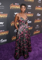 HOLLYWOOD, CA - APRIL 23: Actor Lashana Lynch attends the Los Angeles Global Premiere for Marvel Studios' Avengers: Infinity War on April 23, 2018 in Hollywood, California. (Photo by Jesse Grant/Getty Images for Disney) *** Local Caption *** Lashana Lynch