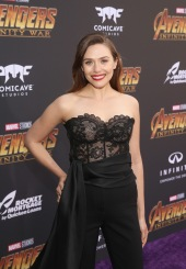 HOLLYWOOD, CA - APRIL 23: Actor Elizabeth Olsen attends the Los Angeles Global Premiere for Marvel Studios' Avengers: Infinity War on April 23, 2018 in Hollywood, California. (Photo by Jesse Grant/Getty Images for Disney) *** Local Caption *** Elizabeth Olsen