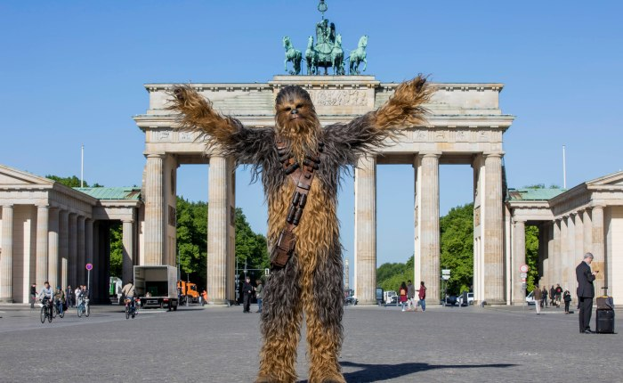 Chewbacca in Berlin – SOLO: A STAR WARS STORY