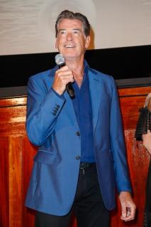 Pierce Brosnan bei der Bühnenpräsentation im Passage Kino MAMMA MIA! HERE WE GO AGAIN in Hamburg am 12.07.2018 © UNIVERSAL / Andre Mischke