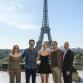 Paris Photo Call - v.l.n.r.: Jessica Chastain, Simon Kinberg (Regisseur), Sophie Turner (Jean Grey/Phoenix), Michael Fassbender (Erik Lehnsherr/Magneto), Hutch Parker (Produzent) © 2019 Twentieth Century Fox